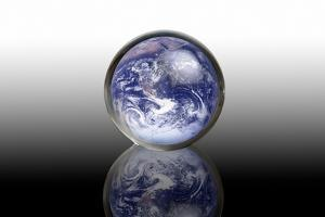 Earth In a Crystal Ball, Conceptual Image by Victor De Schwanberg