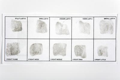 Fingerprint Record Card