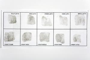 Fingerprint Record Card by Victor De Schwanberg