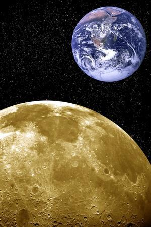 Moon And Earth, Artwork