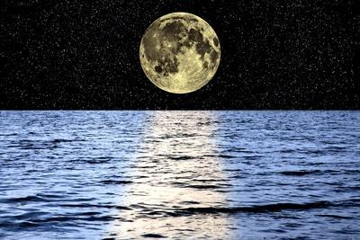 Moon Over the Sea, Composite Image