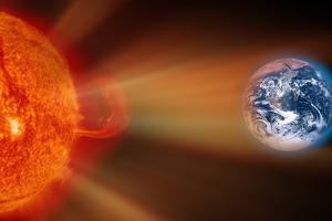 Solar Storm, Artwork by Victor De Schwanberg