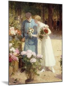 A Flower Market; Au Marche Aux Fleurs by Victor Gabriel Gilbert