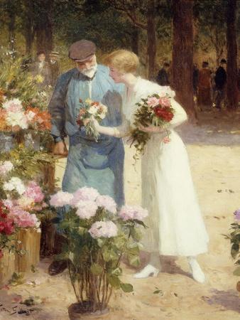 A Flower Market; Au Marche Aux Fleurs