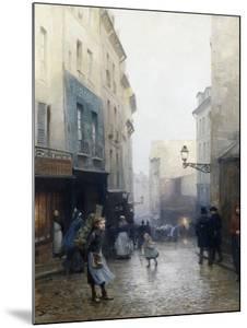 A Street Market, Paris, France by Victor Gabriel Gilbert