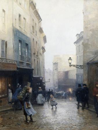 A Street Market, Paris, France