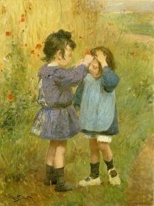 Ein Blümchen für die kleine Schwester by Victor Gabriel Gilbert