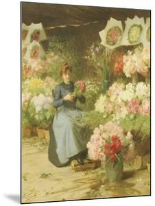 Flower Seller Behind the Madelaine Church by Victor Gabriel Gilbert