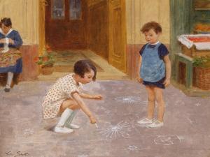 Hopscotch by Victor Gabriel Gilbert