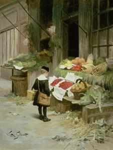 Little Boy at the Market by Victor Gabriel Gilbert