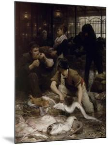 Un coin de la Halle aux poissons le matin (1880) by Victor Gabriel Gilbert