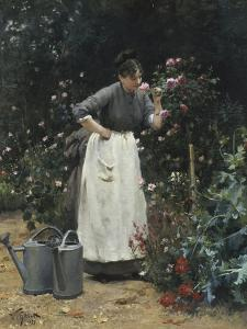 In the Rose Garden by Victor Gilbert