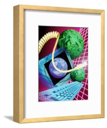 Abstract Artwork of the World Wide Web