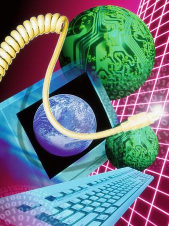 Abstract Artwork of the World Wide Web by Victor Habbick