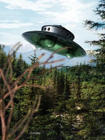 Alien Spaceship by Victor Habbick