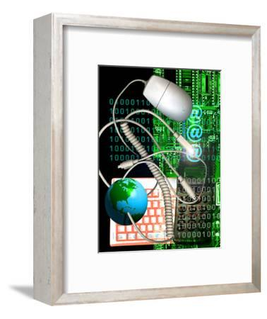 Computer Artwork of Internet Communication