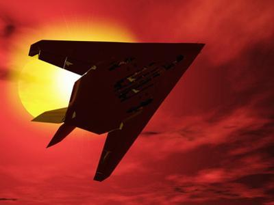 F117a Nighthawk Stealth Fighter by Victor Habbick