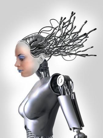 Female Cyborg, Artwork by Victor Habbick