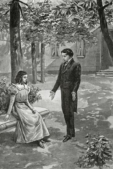 Victor Hugo Declaring His Love to Adèle Foucher, 19th Century--Giclee Print