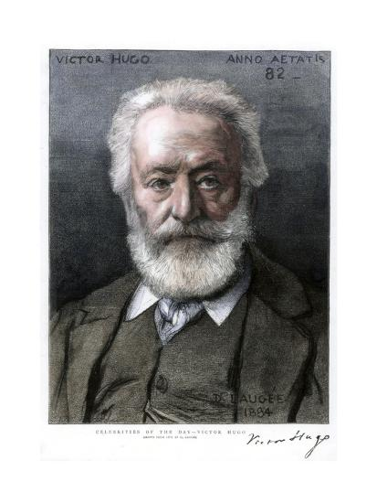 Victor Hugo, French Author, 1885-D Laugee-Giclee Print