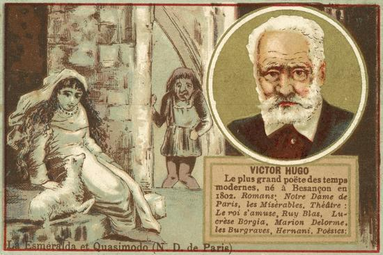 Victor Hugo, French Author--Giclee Print