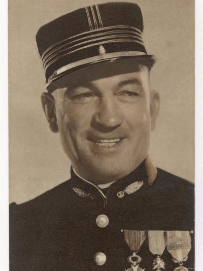 Victor Mclaglen British Actor in British Silent Films and American Talkies Seen Here in Uniform--Photographic Print