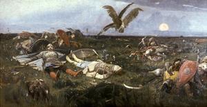 After the Battle Between Prince Igor Svyatoslavich of Kiev and the Polovtsy, 1880 by Victor Mikhailovich Vasnetsov