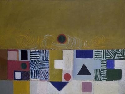 Square Motif, Blue and Gold: The Eclipse