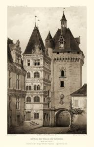 Sepia Chateaux VI by Victor Petit