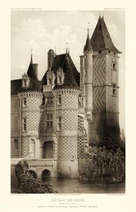 Sepia Chateaux VII by Victor Petit