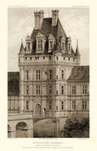 Sepia Chateaux VIII by Victor Petit