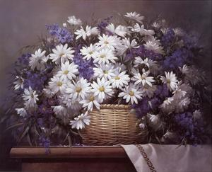 Daisies and Delphiniums by Victor Santos