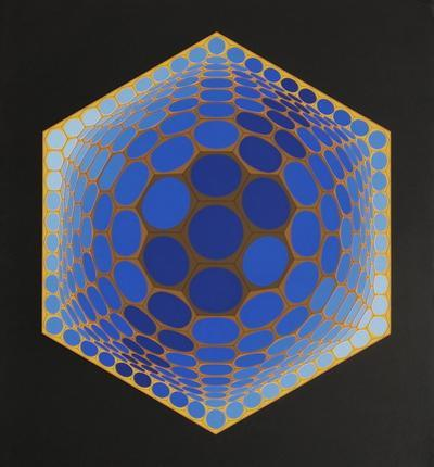 Composition alvéolaire by Victor Vasarely