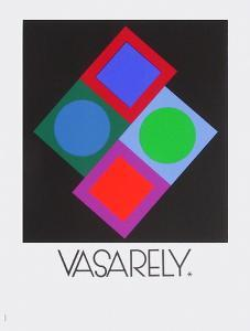 Expo Vasarely (affiche avant la lettre) by Victor Vasarely