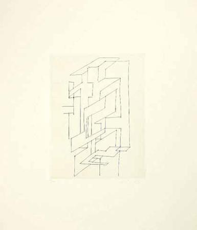 Gordes Gestalt by Victor Vasarely