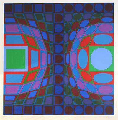 Ohne Titel LX by Victor Vasarely