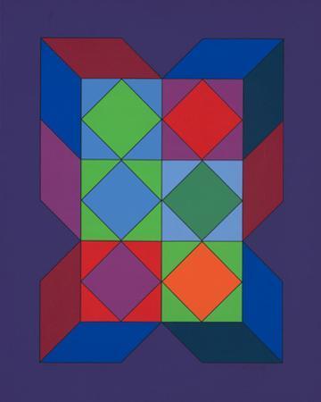 Ohne Titel XLVI (Lila) by Victor Vasarely