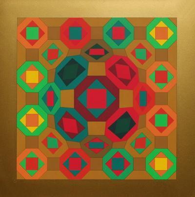 Okta Or by Victor Vasarely