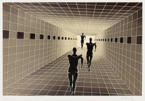 Origines - Etude de perspective by Victor Vasarely
