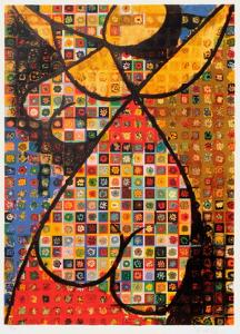 Origines - Fille-fleur by Victor Vasarely