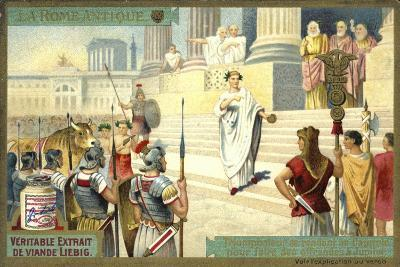 Victor Visiting the Capitol to Make Offerings to Jupiter, Ancient Rome--Giclee Print