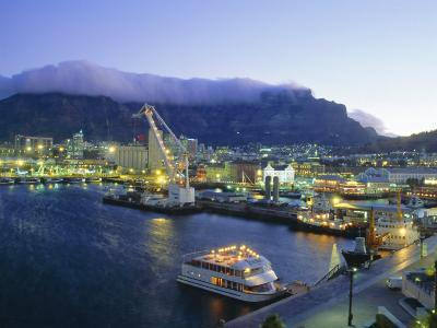 Victoria and Albert Waterfront with Table Mountain Behind, Cape Town, South Africa-Fraser Hall-Photographic Print