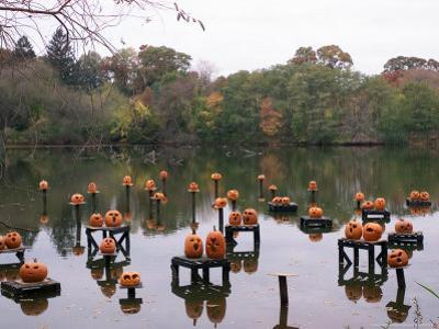 This Water Based Jack-O-Lantern Display in the Halloween Spectacular