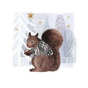 Cozy Woodland Animal II by Victoria Borges