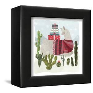 Holiday Llama III by Victoria Borges