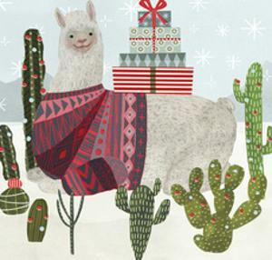 Holiday Llama IV by Victoria Borges