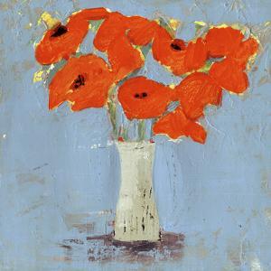 Orange Poppy Impression I by Victoria Borges