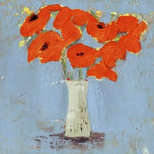 Orange Poppy Impression I by Victoria Borges