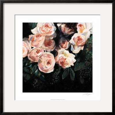 Peachy Blooms I by Victoria Borges