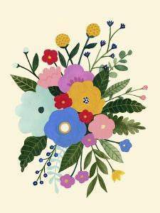Primary Blooms I by Victoria Borges